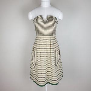 Anthropologie Maeve striped linen blend dress